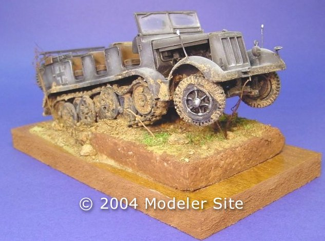 German halftrack Sdkfz7